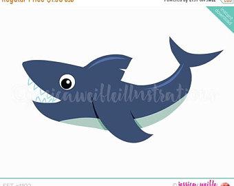 340x270 Shark Clipart Set Shark Clip Art Cute Shark Graphics
