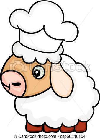 339x470 Scalable Vectorial Image Representing A Cute Sheep Chef