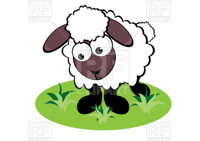 400x283 Cartoon Funny Sheep On The Meadow Royalty Free Vector Clip Art