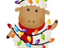 220x165 Christmas Sheep Clipart Christmas Funny Sheep With Deer Vector