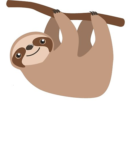458x550 Cute Baby Cartoon Sloth Design Posters By Merchhost Redbubble