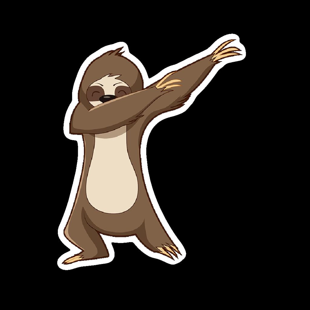 1024x1024 Cute Funny Dancing Sloth Car Bumper Decal Sticker