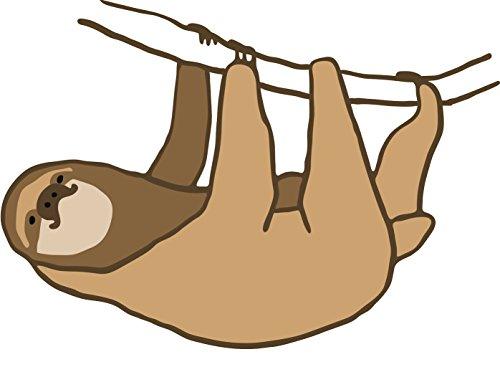 500x367 Adorable Lazy Sloth Paint Drawing Cartoon Vinyl Decal Sticker