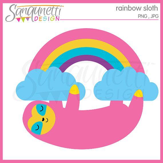 570x570 Sloth Clipart, Sloth Clip Art, Rainbow Clipart, Rainbow Clip Art