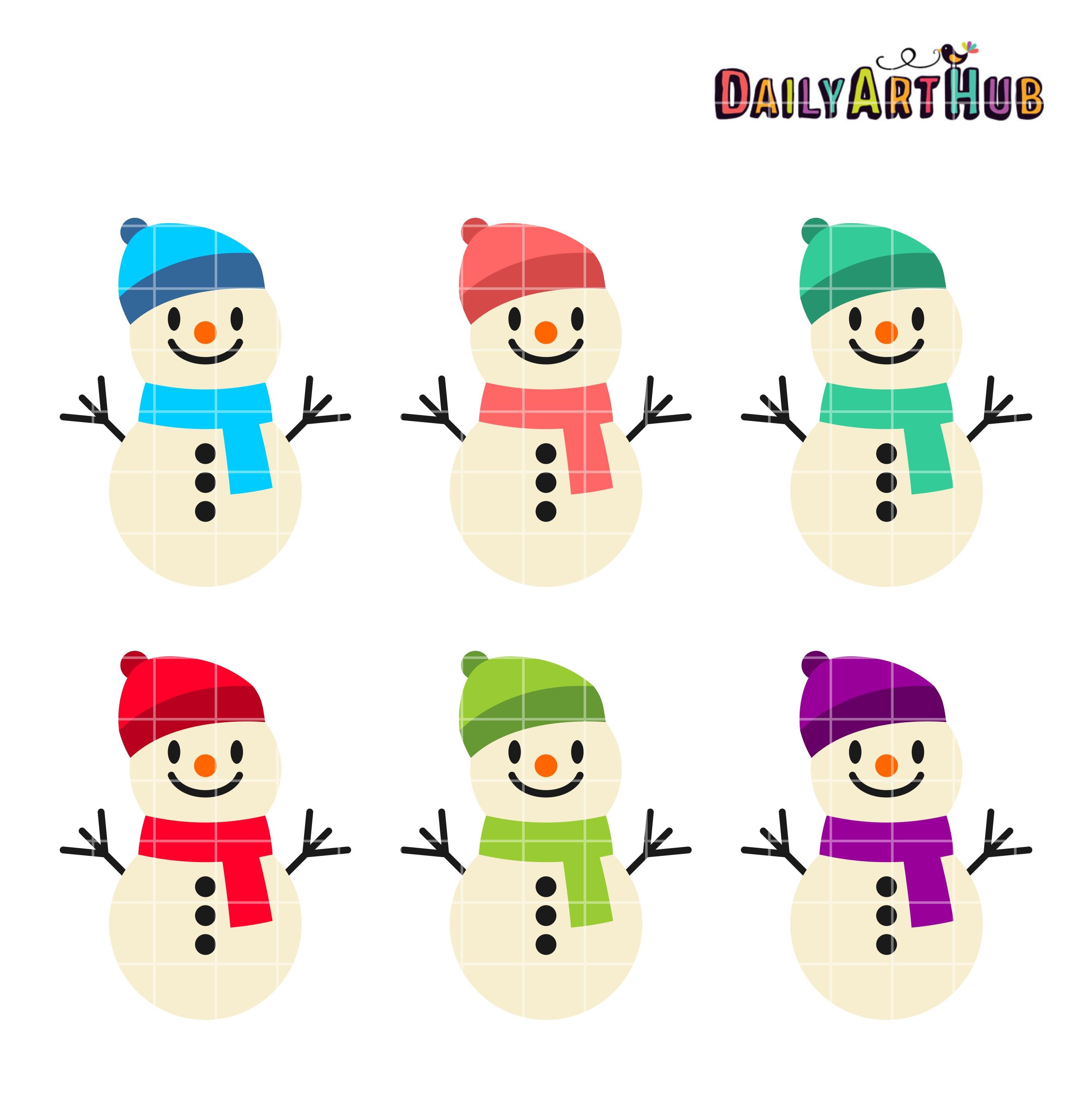 2664x2670 Funny Cute Snowmen Clip Art Set Daily Hub Free Everyday Entrancing