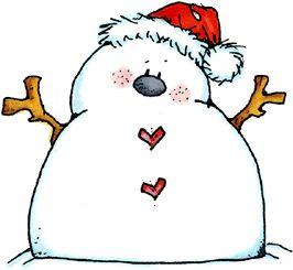 266x245 Snowman Clipart Chubby
