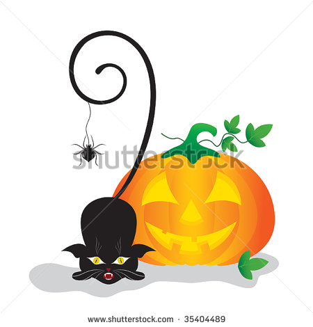 450x470 Cute Halloween Cat Clipart Clipart Panda
