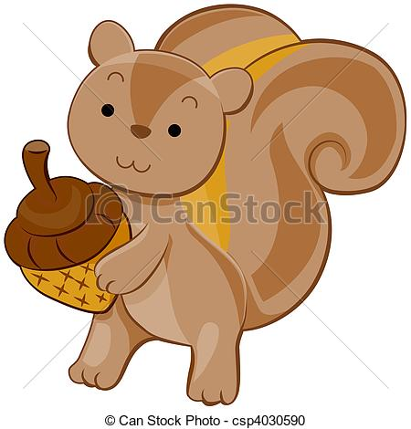 450x470 Cute Squirrel Stock Illustration
