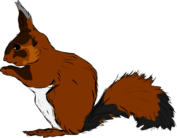 600x466 Squirrel Clip Art