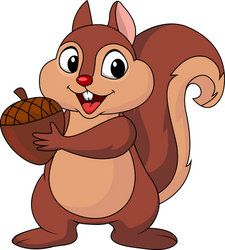 225x250 Free Cute Squirrel Clip Art