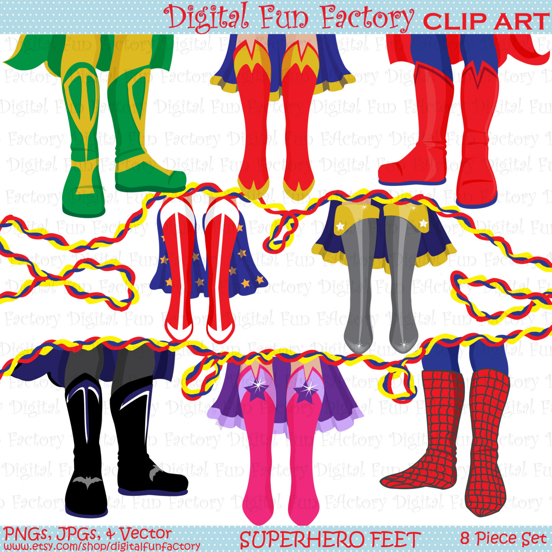 1500x1500 Superhero Clip Art Shoe Feet Superhero Clipart Kids Clip Art