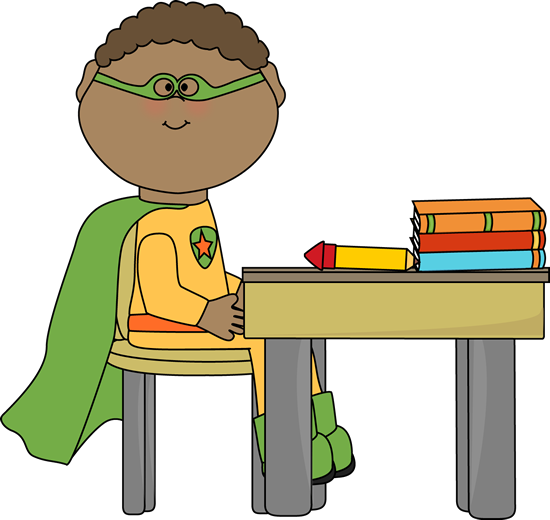 550x520 Superhero Kid Clipart