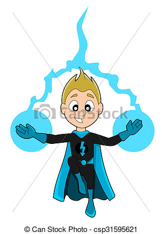 325x470 Superhero Boy Cartoon. Illustration Of Cute Superhero Boy Clip