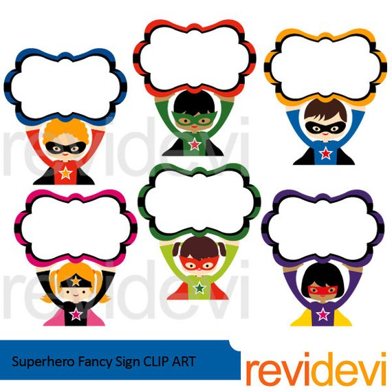 570x570 Superhero Clipart Superhero Fancy Sign Clip Art Cute