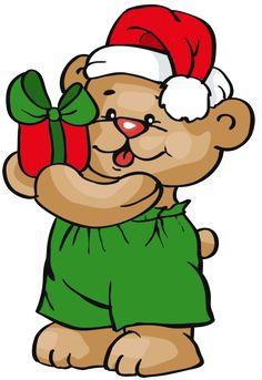 236x343 Christmas Teddy Bear Clip Art