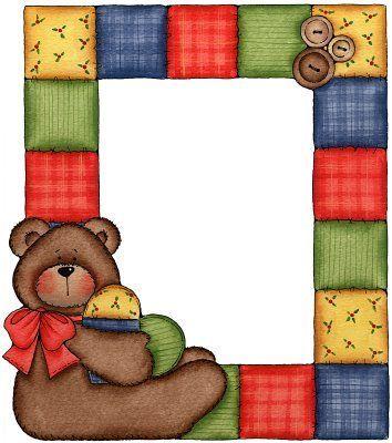 354x400 Teddy Bear Clipart Border Cute