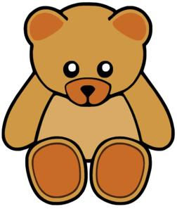 252x297 Brown Cute Teddy Bear Clip Art