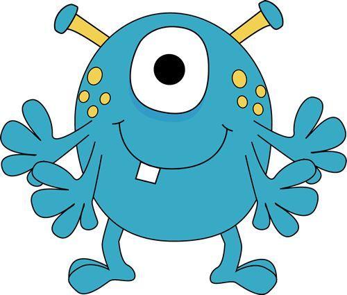 500x425 Monster Clipart For Kids Four Arm Monster Clip Art Image Blue