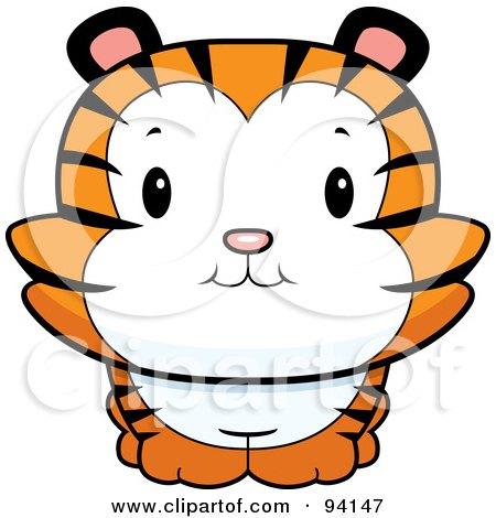 450x470 Clipart Cute Tiger