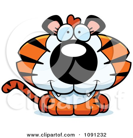 450x470 Clipart Strong Bully Tiger Grinning