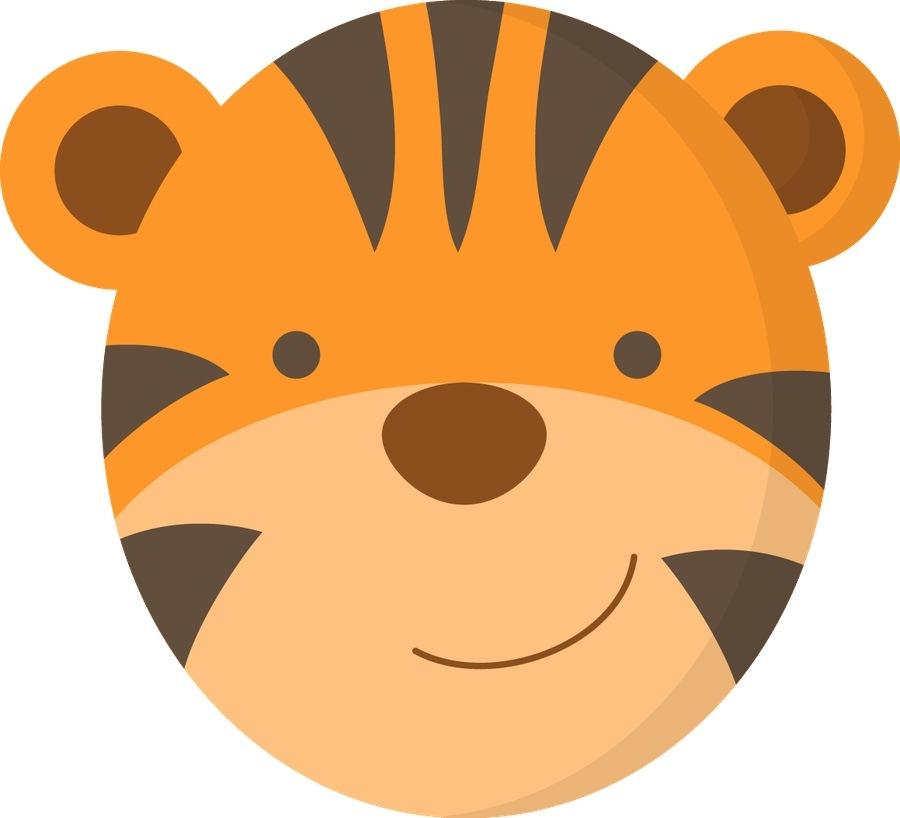900x818 Cute Tiger Face Clip Art