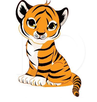 400x420 Cute Tiger Face Clip Art Clipart Panda