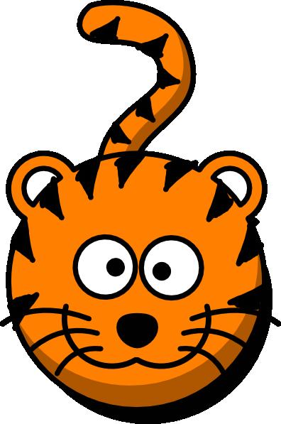 396x597 Tiger Head No Body Clip Art