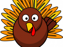 220x165 Large Turkey Clipart Turkey In Pumpkin Svg Cutting File