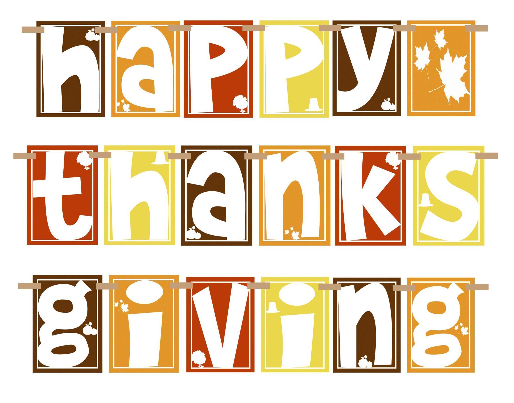 2052x1612 Thanksgiving Banner Clip Art