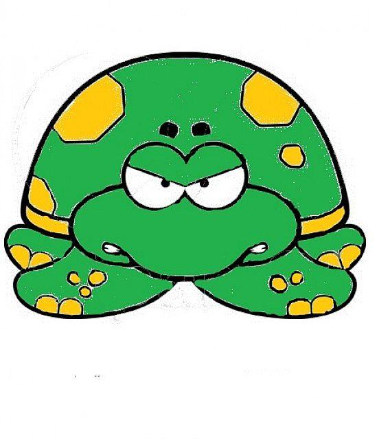 552x640 Cartoon Sea Turtle Cartoon Wallhogs Clipart Image