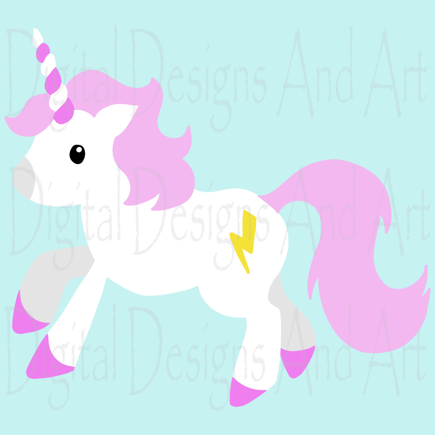 1500x1500 Unicorn Clipart, Cute Unicorns Clipart, Pink Unicorn Clip Art