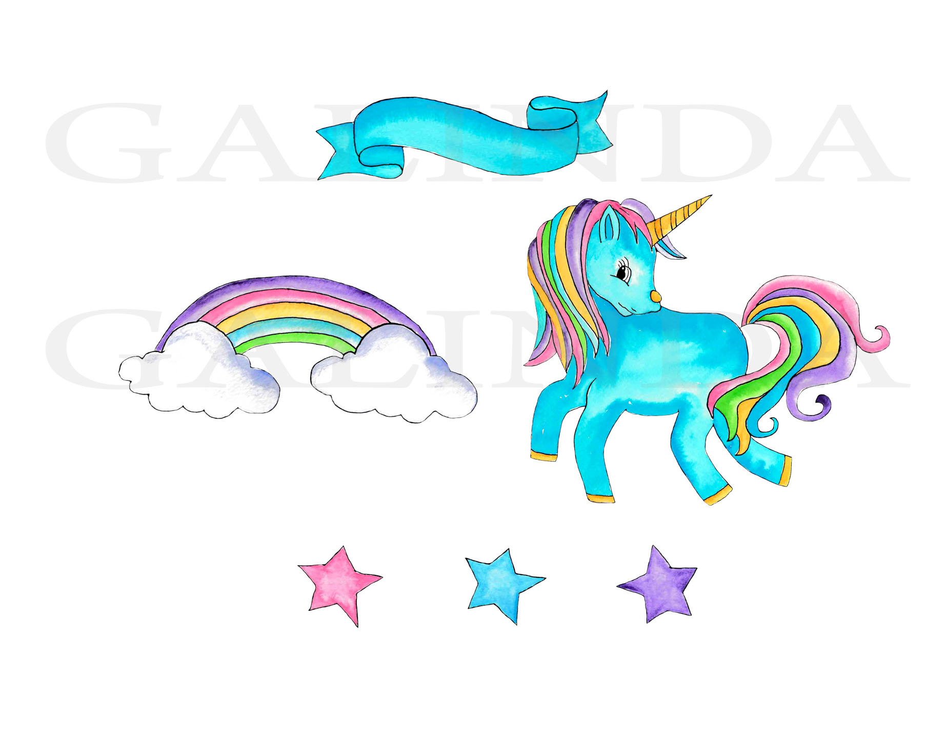 1843x1454 Unicorn Clipart, Unicorns, Watercolor Clip Art, Cute Unicorn