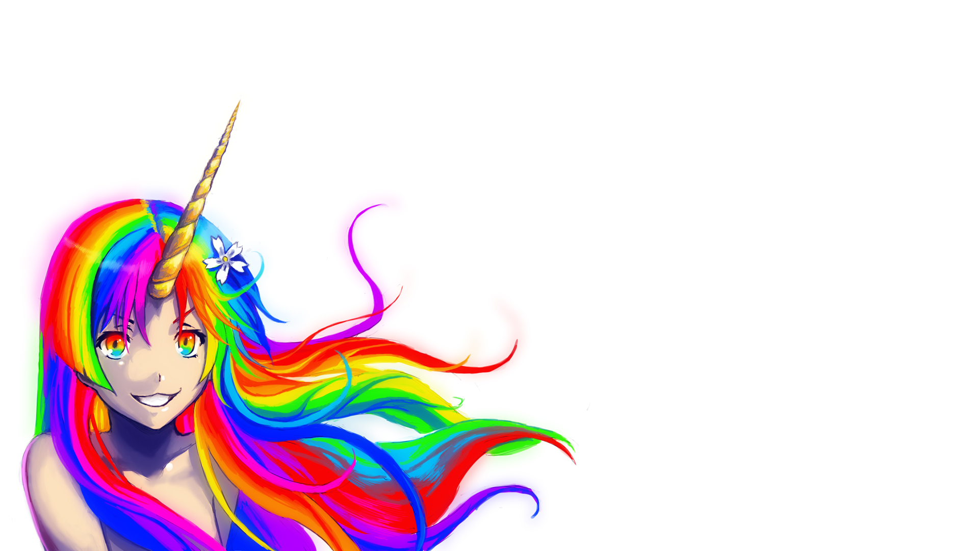 1920x1080 Unicorn Clipart Cute Anime