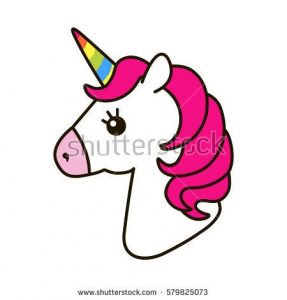 287x300 Cute Unicorn Clipart Unicorn Vector Icon Isolated On White Head