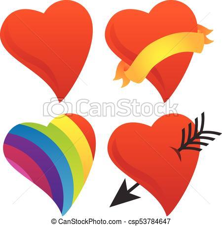 450x460 Cute Sweetheart, Cupid Heart, Valentine Heart, Rainbow Heart