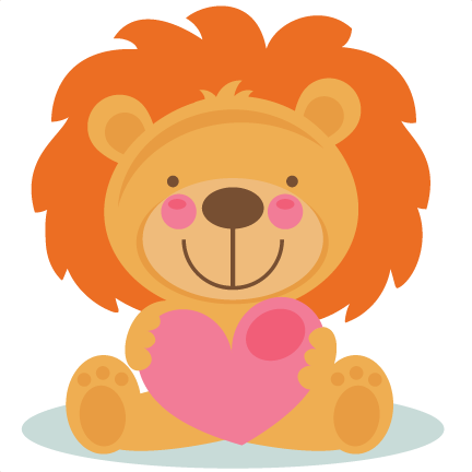 432x432 Daily Freebie 2 4 15 Miss Kate Cuttables Cute Valentine Lion