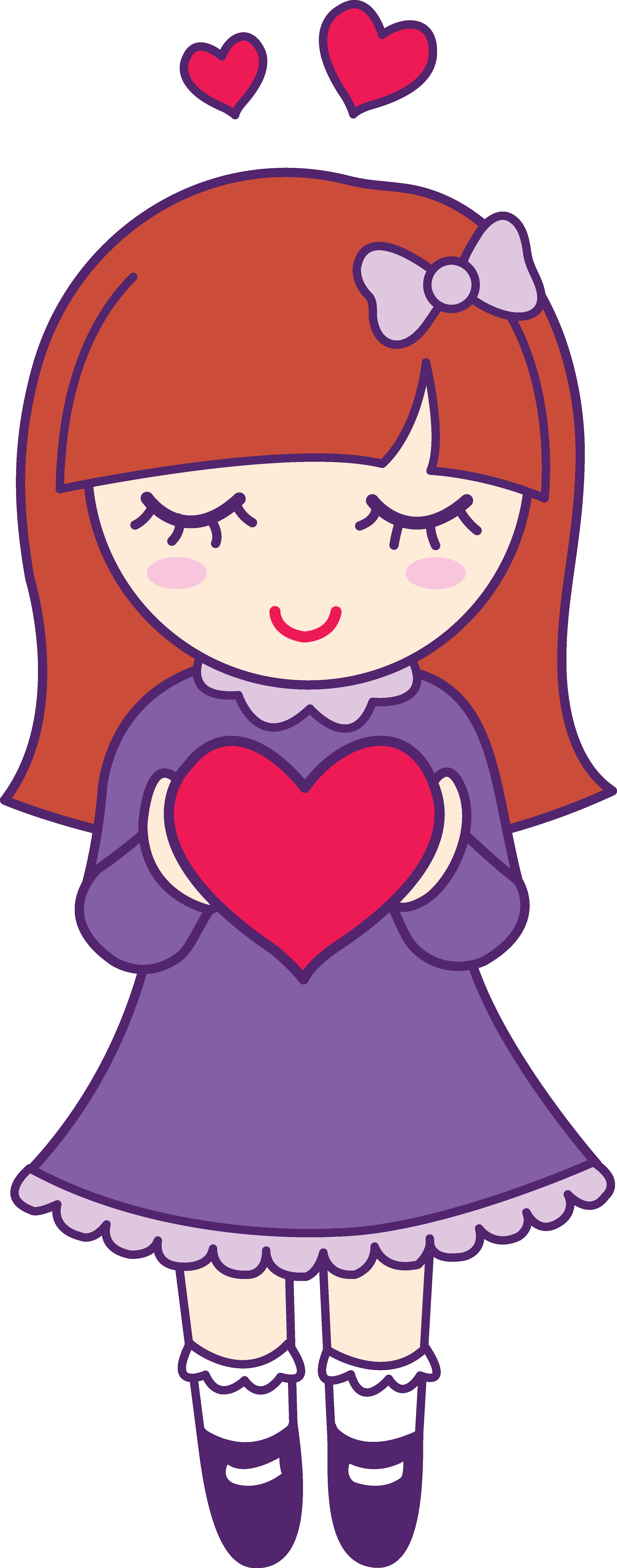 2798x7107 Valentines Day Girl Holding Heart