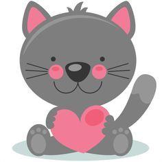 236x236 Cute Animal Valentine Clip Art, Cat Valentine Clip Art, Dog