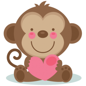 300x300 Cute Valentine Monkey Svg Valentinesticker Monkey