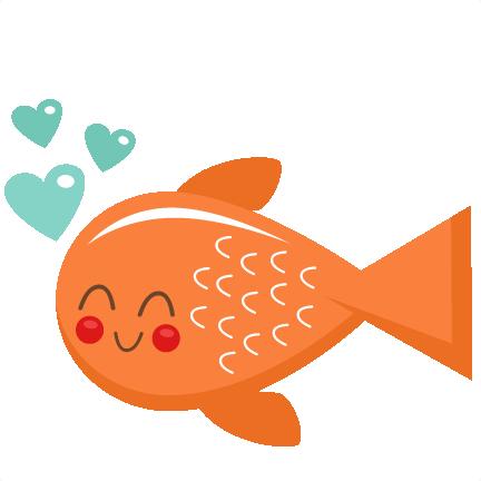 432x432 Valentine Fish Svg Scrapbook Cut File Cute Clipart Files