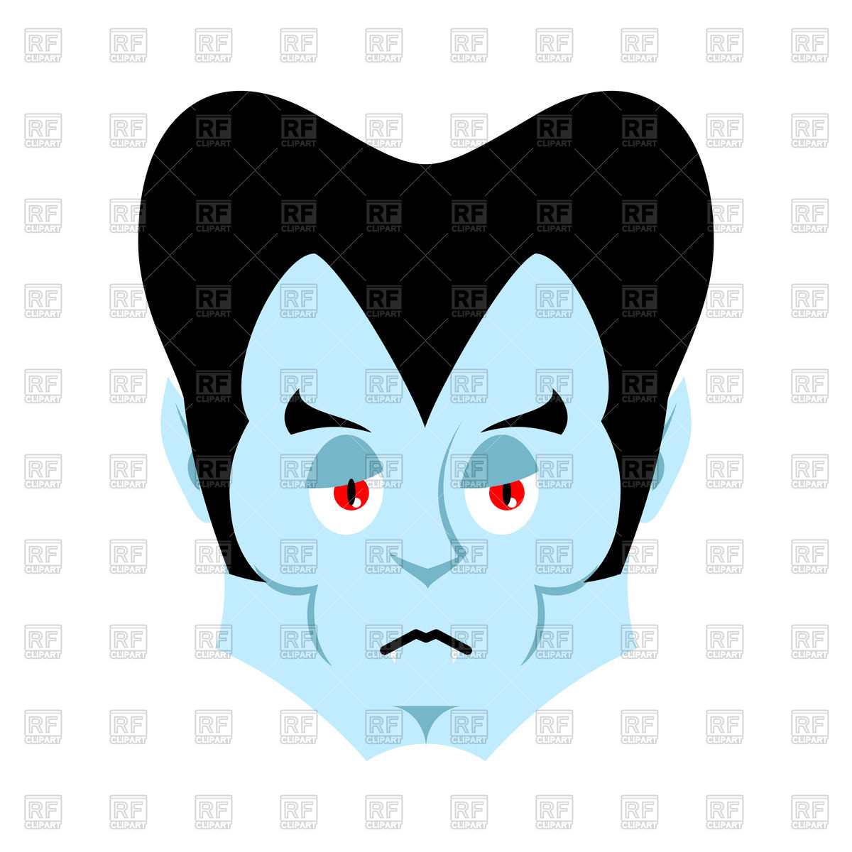 1200x1200 Dracula Sad Emoji. Vampire Sorrowful Emotion Face. Royalty Free