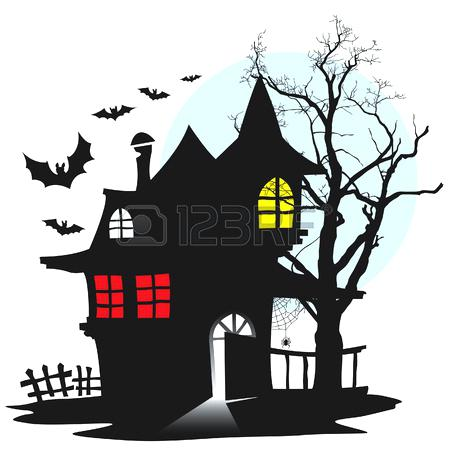 450x450 Haunted Houses Clip Art Haunted House At Cute Haunted House