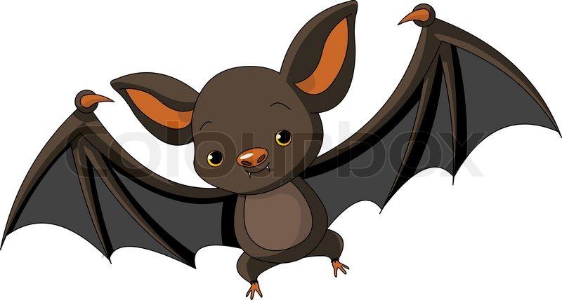 800x428 Illustration Of Cute Cartoon Halloween Bat Flying Stock Vector