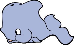 300x182 Cute Whale Clip Art Free Vector 4vector