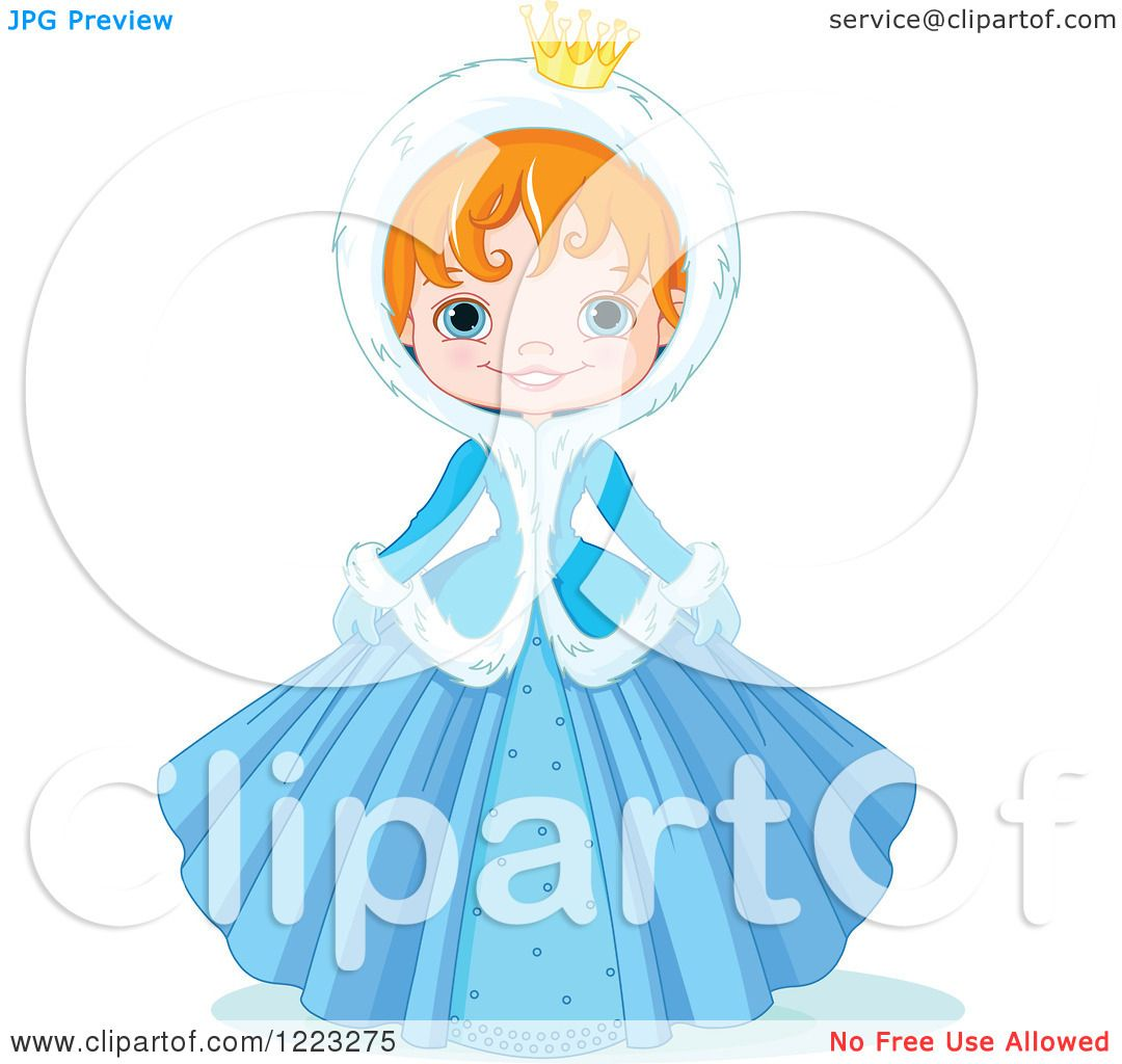 1080x1024 Clipart Of A Cute Winter Princess In A Blue Dress And Hood