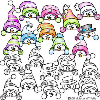 350x350 Cute Snowman Page Topper Peeking Snowmen Faces Peekers Winter