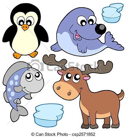 435x470 Cute Winter Illustration. Cute Winter Animals