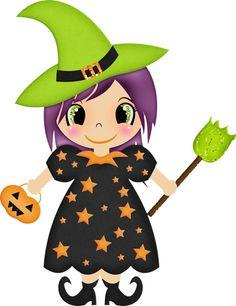 236x306 Cute Halloween Witches Clipart