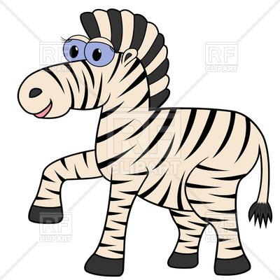 400x400 Cute Cartoon Zebra Royalty Free Vector Clip Art Image