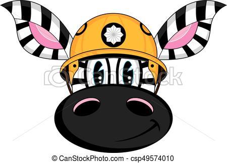 450x323 Cute Zebra Fireman. Cute Cartoon Zebra Fireman